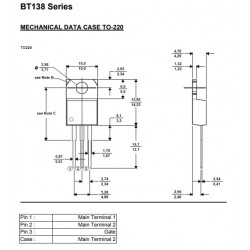 2 PCS BT138//600 Triac CS=TO220